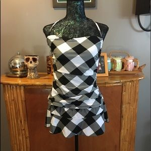 Xhilaration Checkered 2 Piece Tankini Swimsuit